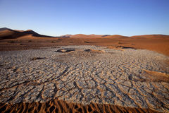 A dry lake Sossusvlei, Namibia, Africa Stock Images