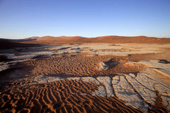 A dry lake Sossusvlei, Namibia, Africa Royalty Free Stock Photos