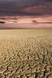 Dry Lake Sunset Royalty Free Stock Photos