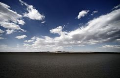 Dry Lakebad Mojave Desert Stock Photos