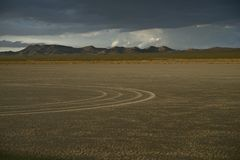 Dry Lakebad OHV Stock Image