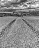 Dry lakebed in Anza Borrego Desert State Park. Clark dry lakebed in Anza Borrego Desert State Park Royalty Free Stock Images
