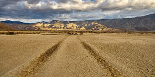 Dry lakebed. Desert Clark Dry Lakebed at sunrise in Anza Borrego Stock Photography