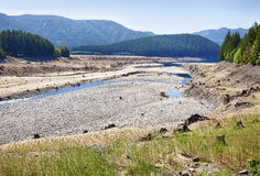 Dry Lakebed Of Lake Detroit In Drought Stock Photo