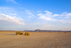 Dry Lakebed Mojave Valley. Dry lakebed in the Mojave desert of southern California Royalty Free Stock Photo