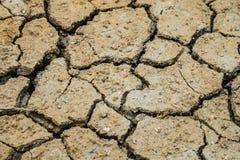 Dry land. Cracked ground background. Royalty Free Stock Images