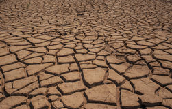 Dry Land with Cracked Royalty Free Stock Photography