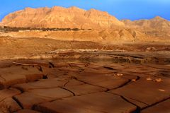 Dry land in the dead sea stock photography