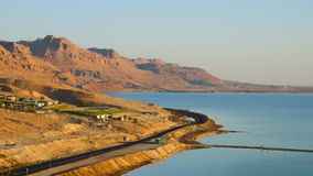 The dry land and the Dead Sea Stock Photo