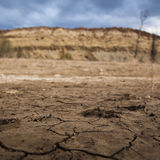 Dry land and dry spell by global warming Stock Images