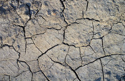 Dry land. Dryness of dry land. Environmental problem of aridity and drought leading to negative desertification. Soil is cracked and scorched stock images