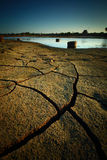 Dry land. Dry soil texture on the ground Royalty Free Stock Images