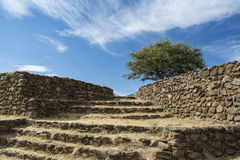 Guadalajara, Jalisco, Mexico Dry Landscape. Ceremonial center and ancient pre-Hispanic establishment located in the city and municipality of Teuchitlán royalty free stock image