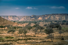 Dry landscape of Queshm Royalty Free Stock Photo