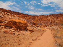 Dry landscape in Twyfelfontein area. Damaraland, Namibia Royalty Free Stock Photo