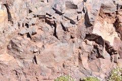 Dry Lava Basaltic Rock. Stone Texture Background Stock Photos