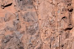 Dry Lava Basaltic Rock. Stone Texture Background Stock Images