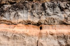 Dry Lava Basaltic Rock. Stone Texture Background Stock Image
