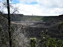 The Dry Lava Bed. Big Island, Volcano, Hawaii Stock Photography
