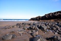 Dry Lava Coast Beach Royalty Free Stock Image