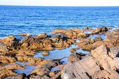 Dry Lava Coast Beach Stock Photography