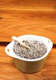 Dry lavender in green pot Royalty Free Stock Photos