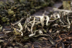 Dry leaves of different types of tea Royalty Free Stock Images