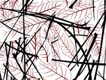 Dry leaves in the garden royalty free illustration