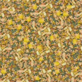 Dry leaves seamlessly composable pattern royalty free stock image