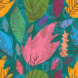 Dry leaves style seamless pattern Royalty Free Stock Image