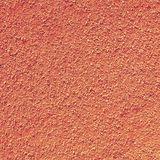 Dry light red crushed bricks surface on outdoor tennis ground. Detail of texture Stock Photo