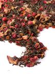 Dry loose berry tea with leaves Stock Photos