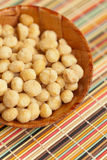 Dry Macadamia Nuts with Sea Salt Stock Photos