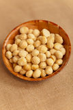 Dry Macadamia Nuts with Sea Salt Royalty Free Stock Photo
