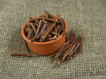 Dry Marsh Cinquefoil, Potentilla palustris. Dry medical herbs Royalty Free Stock Photos