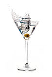 Dry Martini. Cocktail. Splash stock image