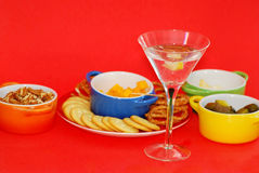 Dry Martini with Lemon Twist Stock Photos