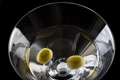 Dry martini with olives Royalty Free Stock Photos