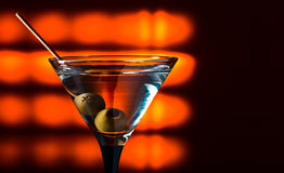 Dry martini with olives Stock Image