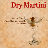 Dry Martini Recipe Royalty Free Stock Images