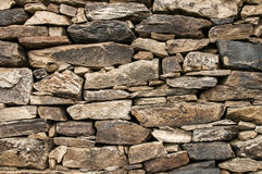Dry masonry stone wall Royalty Free Stock Photography