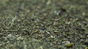 The dry mixture of spices. Parsley basil dill stock footage