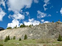 Dry Mountain Ridge. A dry, sparse mountain ridge in Colorado Stock Image
