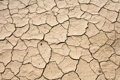 Dry Mud Cracked Desert Ground Background Pattern stock images