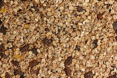 Dry muesli from above Royalty Free Stock Photo