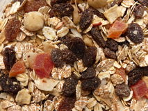 Dry Muesli With Fruits and Nuts Stock Photo
