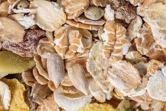 Dry muesli macro from above Stock Photo