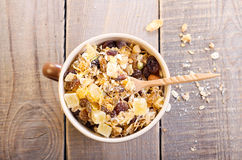 Dry muesli mix Stock Photo