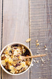 Dry muesli mix Royalty Free Stock Photos