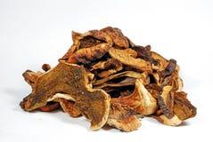 Dry mushrooms. Mushrooms on market stall, mushrooms detail Royalty Free Stock Photos